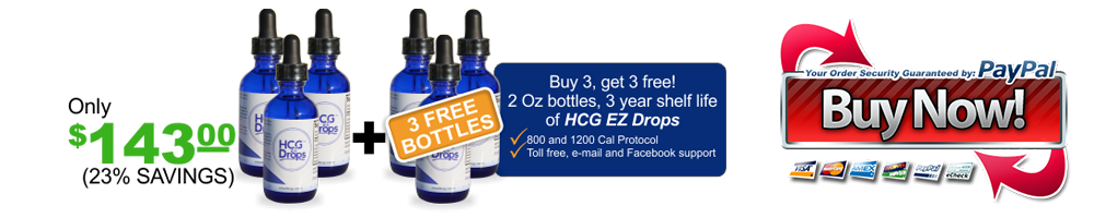 Buy Three bottles for a low price, and get three bottles of hcg free